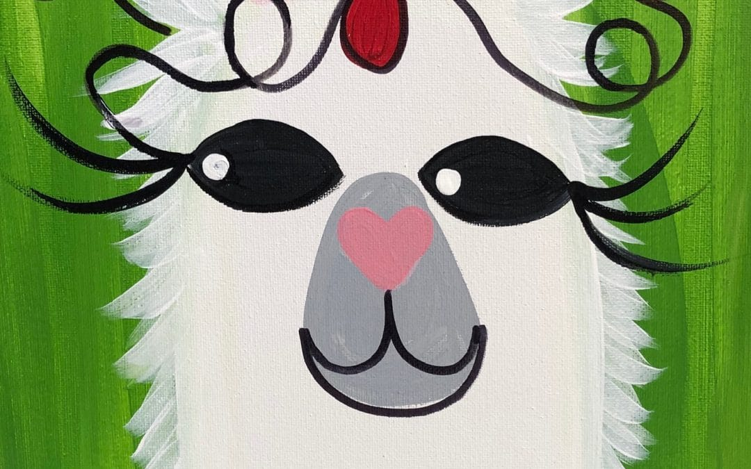 Kids Canvas Class – Jingle Llama