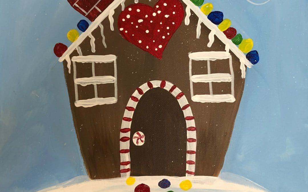 Kids Canvas Class- Gingerbread house
